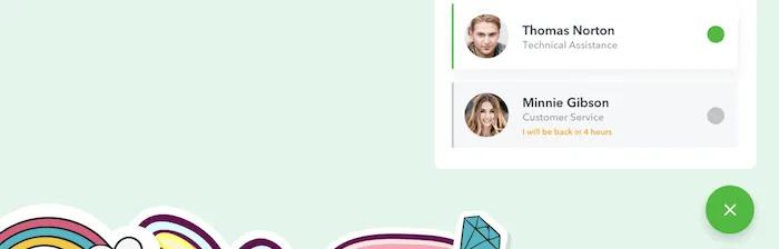 البرنامج المساعد WP Chat App WhatsApp chatbox.