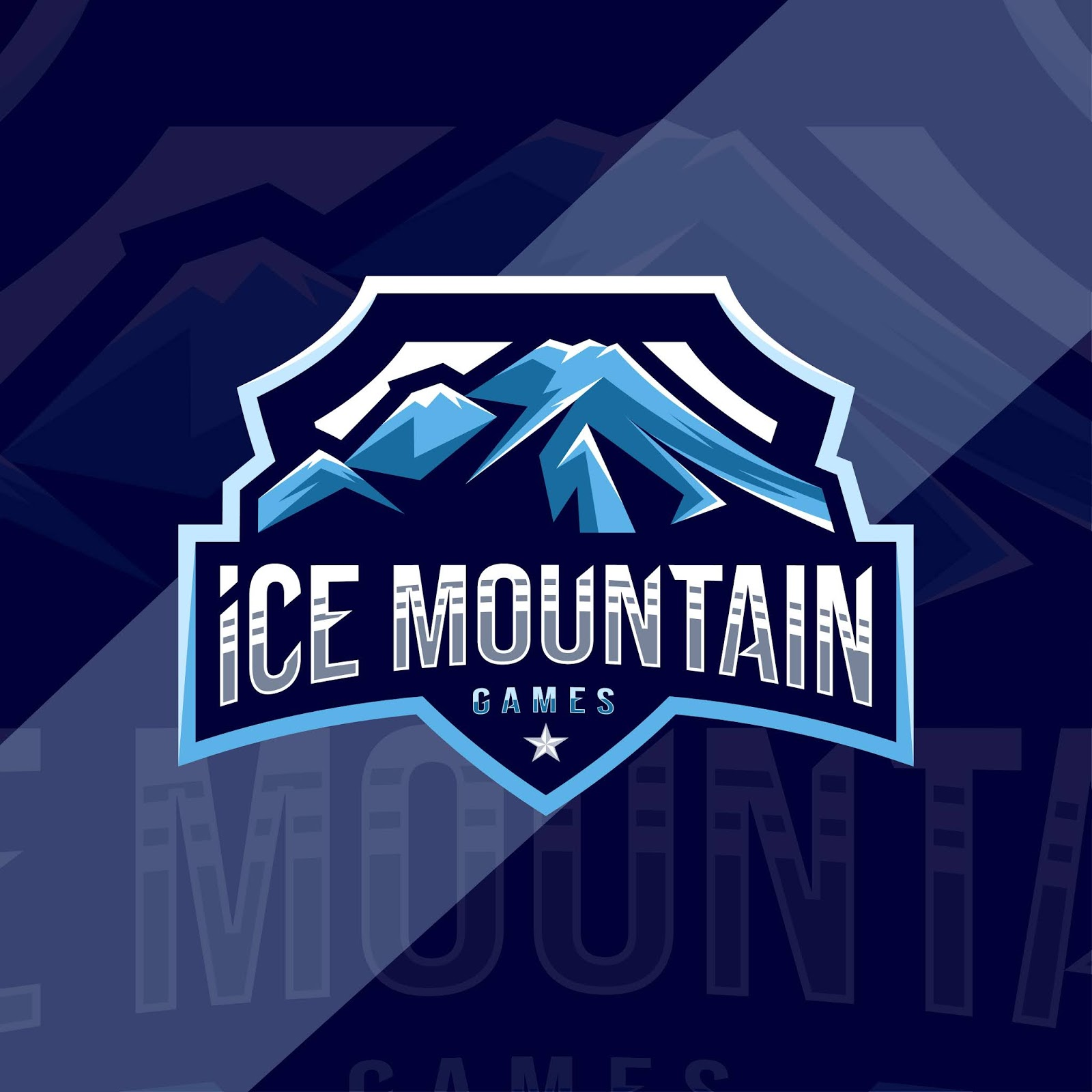 Ice Mountain Games Mascot Logo Sport Free Download Vector CDR, AI, EPS and PNG Formats