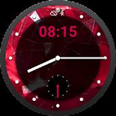 Ruby Obsidian Watch Face