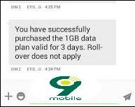 Get Free 1gb For 200# And 5gb For 1000# On The 9mobile Special Data Offer
