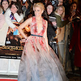 WWW.ENTSIMAGES.COM -    Elizabeth Banks   at      The Hunger Games - Mockingjay - part 1 - UK film premiere at Odeon Leicester Square, London November 10th 2014Premiere of latest film in the Hunger Games franchise, which this time sees Katniss lead a rebellion against the tyrannical and corrupt Capitol.                                              Photo Mobis Photos/OIC 0203 174 1069
