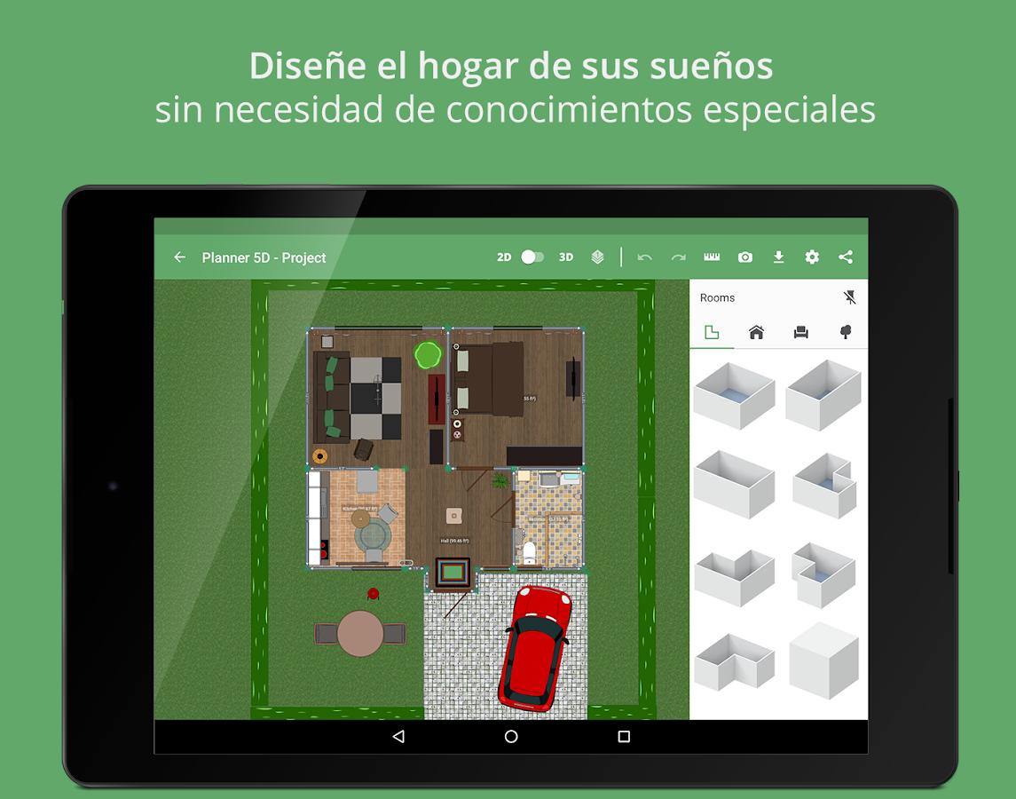 Planner 5d dise o interior aplicaciones de android en for App para diseno de interiores