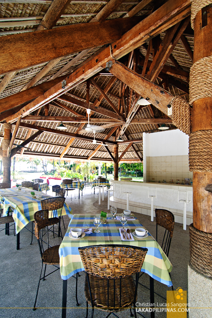 Central Dining Gazebo at Dumaguete's Sta. Monica Beach Club