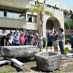 תערוכה ארכאולוגית בכניסה למכללת כנרת - Archaeology exhibition