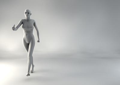 femme 3D pose naturelle BH 09