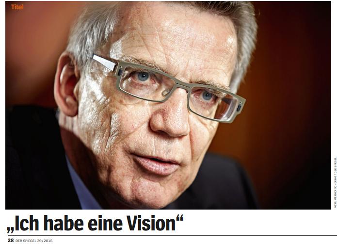 de Maizieré: Ich habe eine Vision