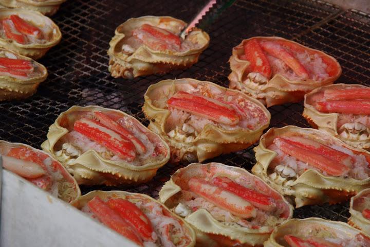 炭火焼本ずわい蟹甲羅盛(紋別市)