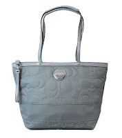 Coach Signature Stitched Nylon Tote 17668 Grey