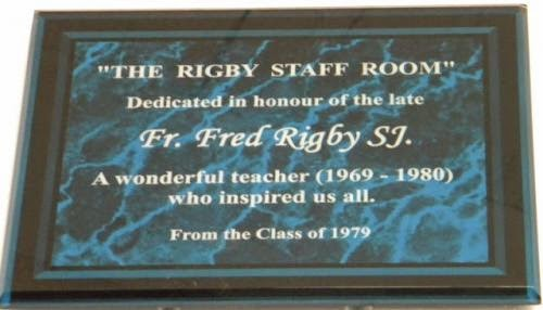Saints Staff Room In Honour Of Fr Fred Rigby S J