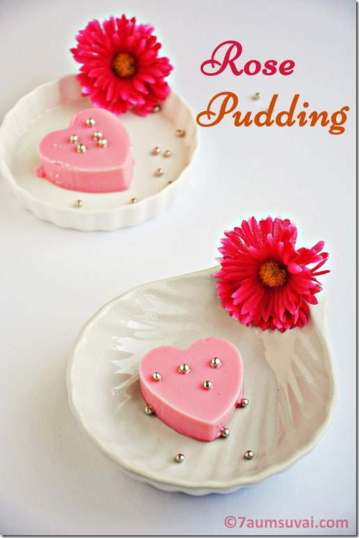 Rose pudding