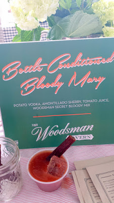 Portland Monthly Country Brunch 2016 - The Woodsman Tavern brought a Bottle Conditioned Bloody Mary with Potato Vodka, Amontillado Shery, Tomato Juice, and Woodsman Secret Bloody Mix with a pepperoni stick
