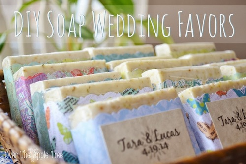 DIY Wedding Favors: Melt and Pour Soap by Over the Apple Tree
