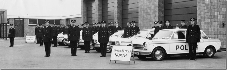 Government Inspection Durham Constabulary H.Q. 1974 (Traffic Patrols North)Fred Purser; Norman Lee; Derek Sayers; Jack Blair; George Robson; ?; Ken Garbutt; John Curry; ? ; Ian Irwin; ?; Jack Fidiam;? ; ? ; Fred English; Norman Davison; Bill Bramfitt; Eric Brown; ?; Eddie Stangroom; Duncan Adamson; Gordon Balderstone; John Knaggs; Bill Sanderson; ?;  Chris Dryden; Trevor Morgan; Geoff Carlon; Kenny James; Ronnie Tarn; Dick Hunter.