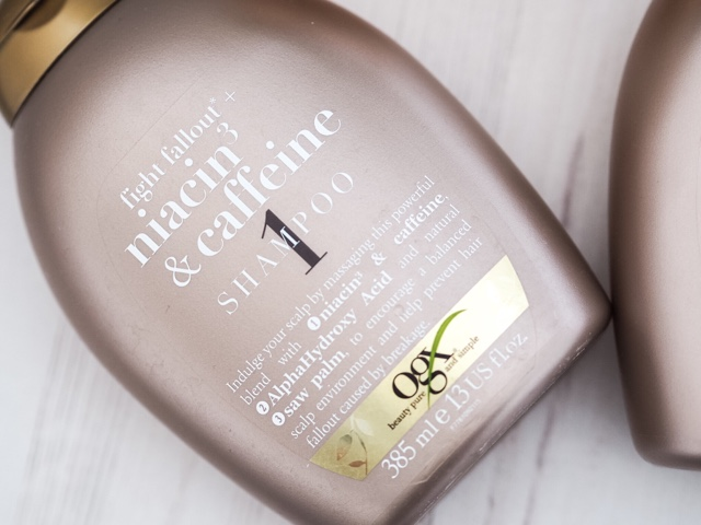 beauty-blog-ogx-beauty-fight-fallout-niaxcin3-and-caffeine-shampoo-and-conditioner-review-strong-hair-care
