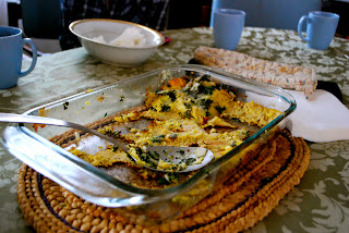 my madeleine: Spinach and Cheese Strata