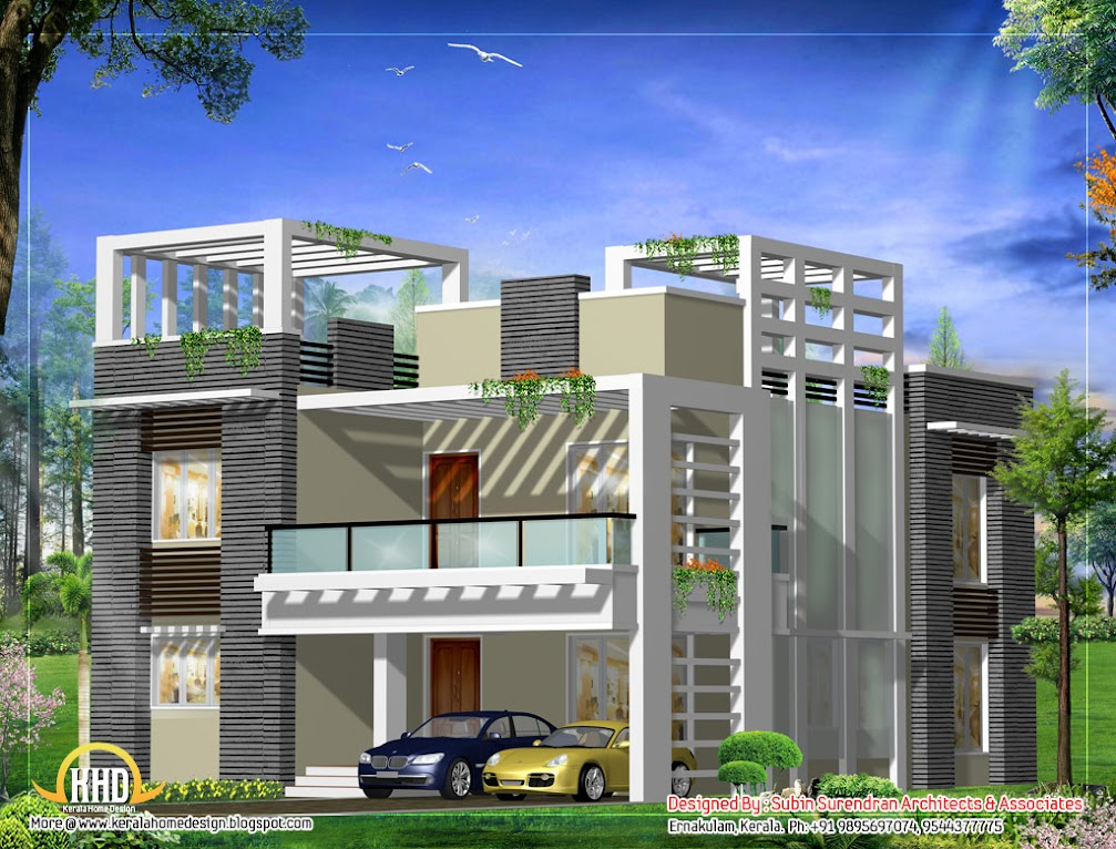 1347000644 436350788 2 1 2 kanal house maps 3d front Modern square house