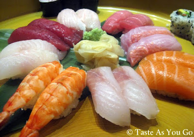 Sushi Combination Plate at Kome Restaurant in Center Valley, PA - Photo by Michelle Judd of Taste As You Go
