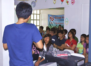 Sir Jefferson Cortez interprets for the deaf congregation (Quezon City) - February 27