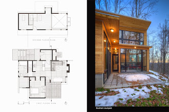 Photo: The 2011 Tom and Lisa Barrie House, aka Mountain Retreat, Boone NC, designed by Thomas Barrie AIA.  Built by Dacchille Construction.  Photos by Eric Morley.