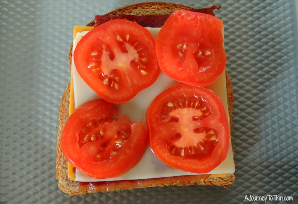 Grown up Grilled Cheese add tomato