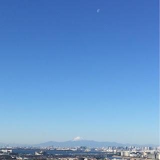 2016年元旦の朝の富士山 浦安からの眺め
