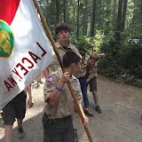 heading to flag ceremony