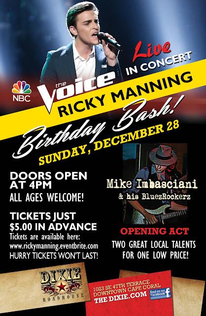 DRH Ricky Manning Concert 11x17  DEC2014