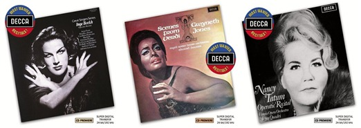 CD REVIEW: DECCA Most Wanted Recitals! by Inge Borke, Dame Gwyneth Jones, & Nancy Tatum (DECCA 480 8139, 480 8161, & 480 8183)