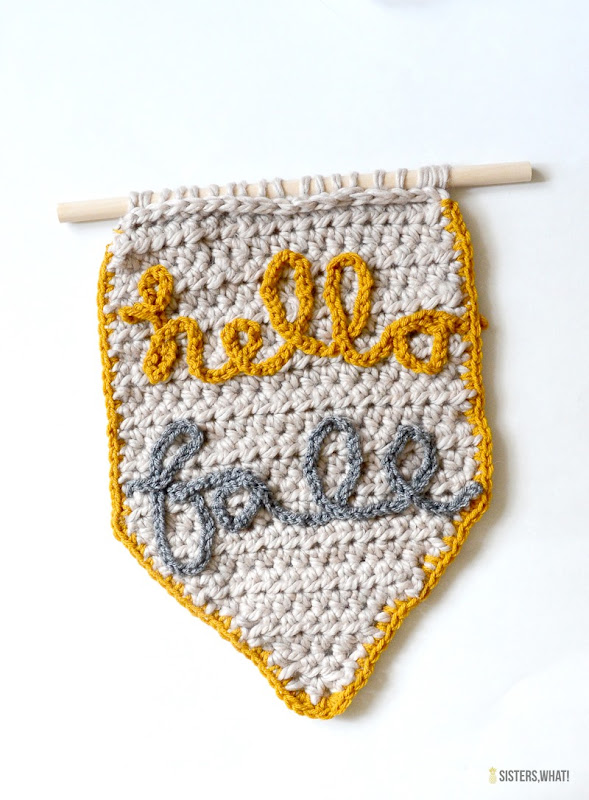 learn how to crochet letters fall banner