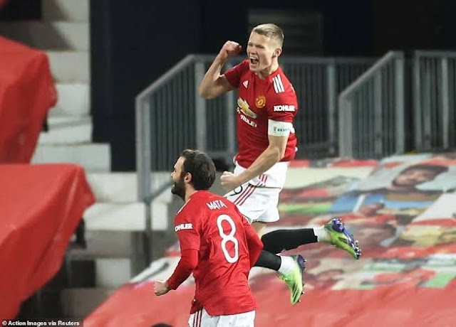 F A CUP : McTominay Lone Goal Sends Man United Into Fourth Round Against Watford