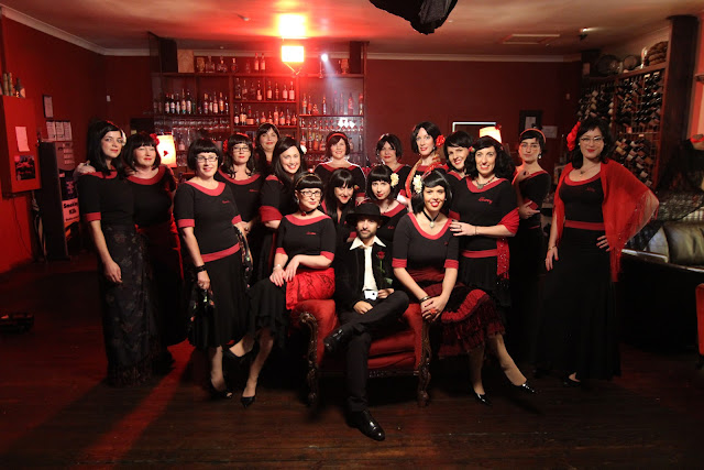 The Rebelles with Adam La Rosa, our Johnston St Boy - Production shot - Spanish Fitzroy video shoot
