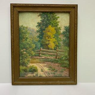 Anthony Joseph Faas Signed Gouache Landscape