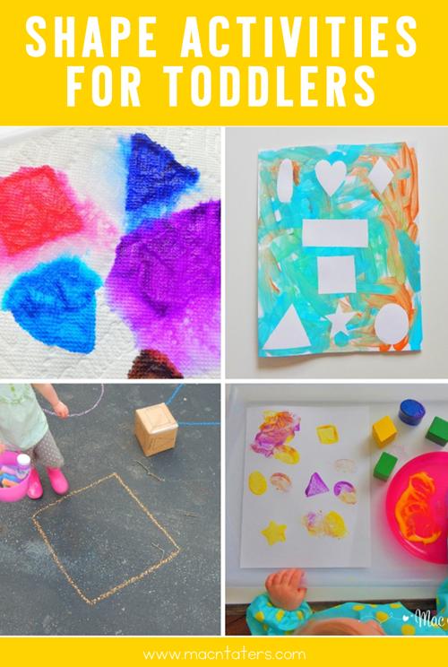 Shape Activities for Toddlers/Tot School