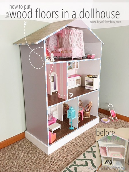 how to put wood floors in a dollhouse