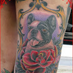 leg rose - tattoo designs