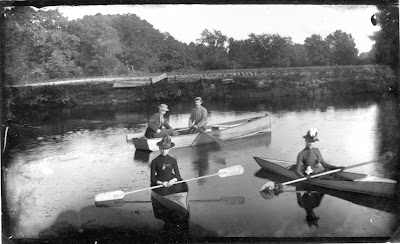 Boating in Oradell on the Hackensack around the turn of the previous century.