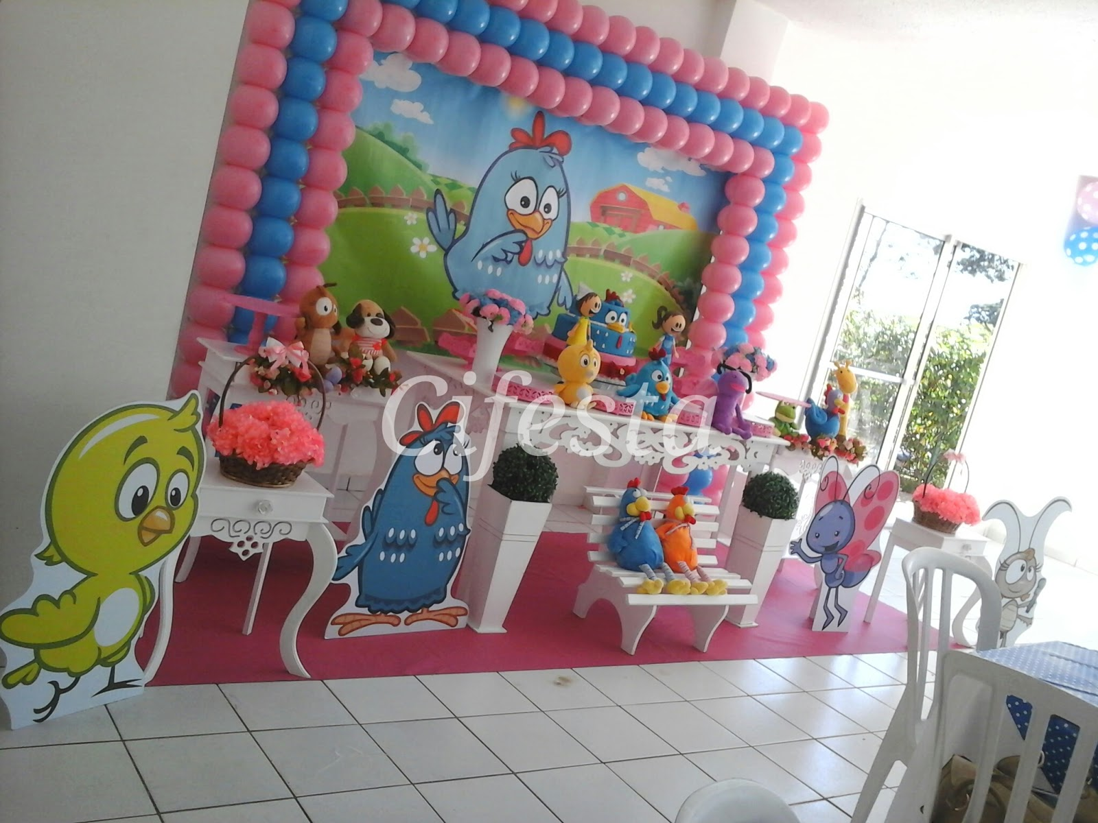 Galinha pintadinha rosa Cifesta -> Decoração De Festa Infantil Da Galinha Pintadinha Rosa