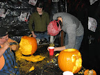 Jenna watching Keith going after the gourd while Don continues to work on his creation.