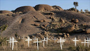 The site of the Marikana massacre, where 34 mine workers died after police opened fire on striking miners.