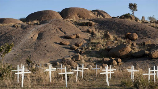 The Marikana massacre victims were commemorated in a memorial on Wednesday.