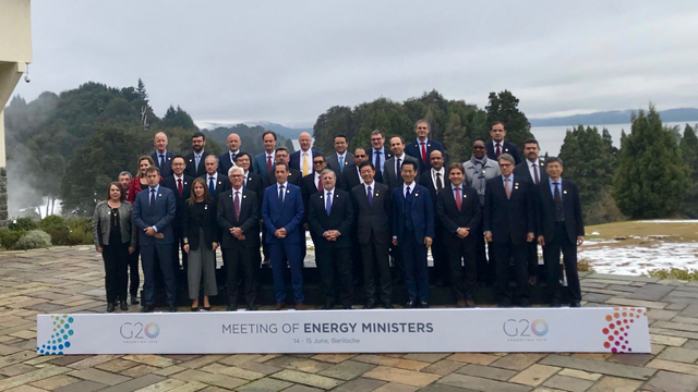 U.S. Secretary of Energy Rick Perry with G20 energy ministers at the G20 Argentina meeting, 15 June 2018. Photo: Rick Perry