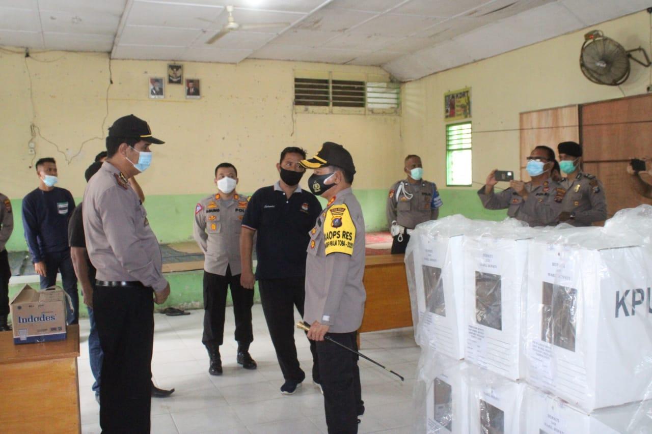 Pasca Pilkada, Kapolres Sergai Cek Kondisi Logistik Pilkada Di PPK Kecamatan