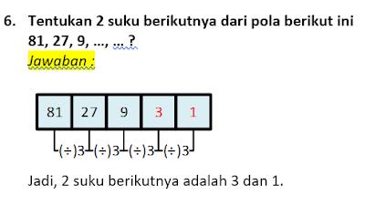 contoh soal dan pembahasan pola bilangan 6
