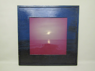 "Gwenn Thomas ""Moonlight Marine"" Photograph and Painted Frame"