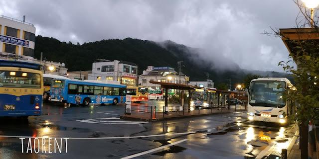 bepergian ke kawaguchiko dengan bus