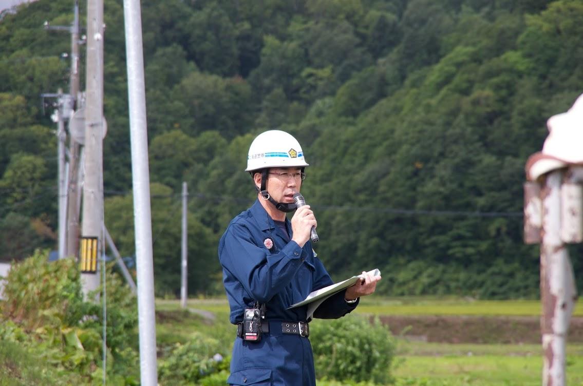 進行役の北海道警察