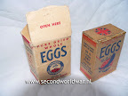 dried eggs dropped during operation manna, the allied fooddrop over occupied holland in 1945.