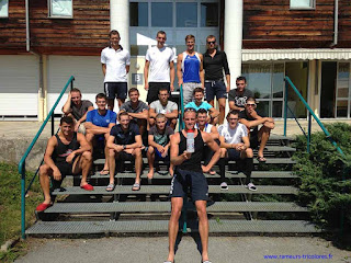 Les rameurs de l'Equipe de France ont apprécié la GOURDE AIA et nous en remercient au travers de cette photo.