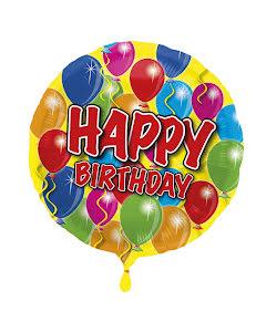 Folieballong, Happy birthday ballonger
