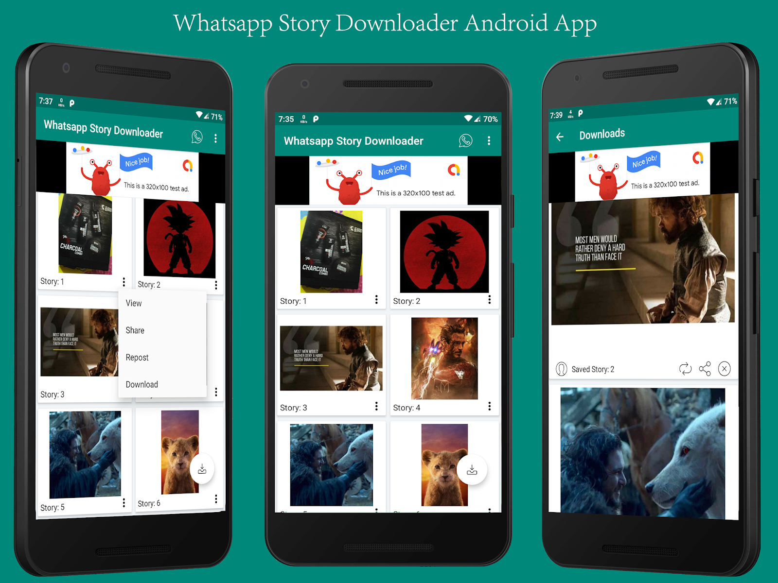 Whatsapp Story Dowloader Android App with Admob Integration - 1